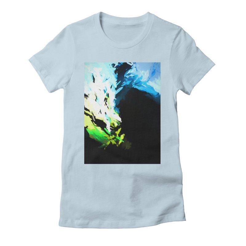 Water Drop Tsunami Slam Women's Fitted T-Shirt by jackievano's Artist Shop
