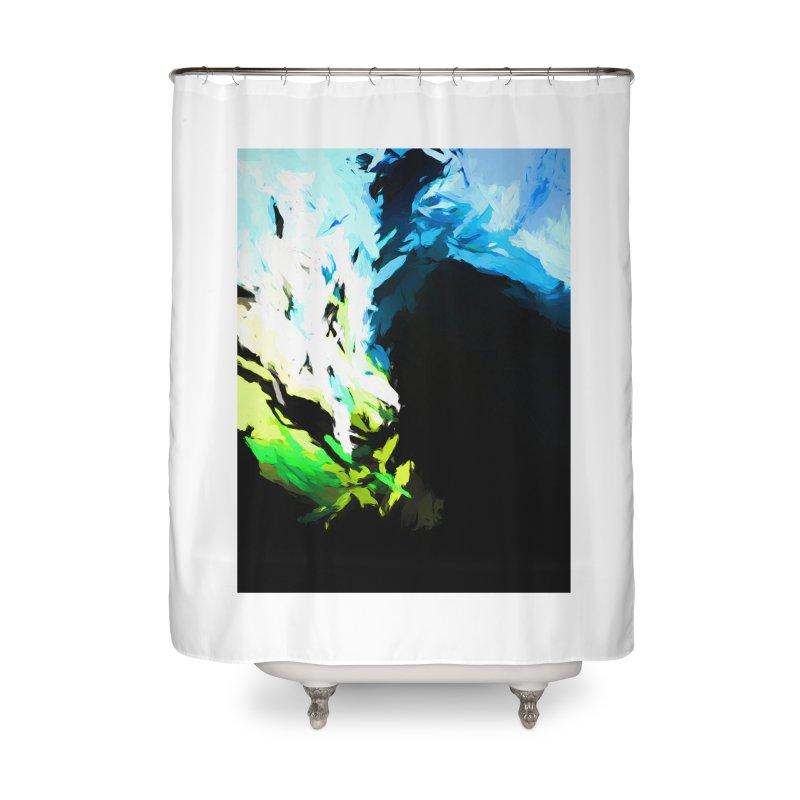 Water Drop Tsunami Slam Home Shower Curtain by jackievano's Artist Shop