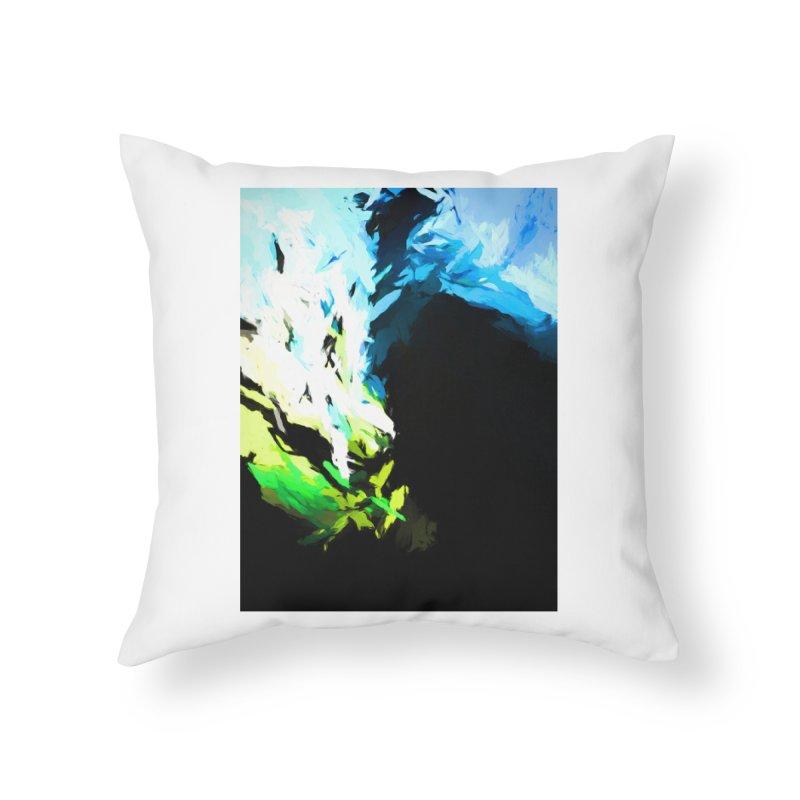 Water Drop Tsunami Slam Home Throw Pillow by jackievano's Artist Shop