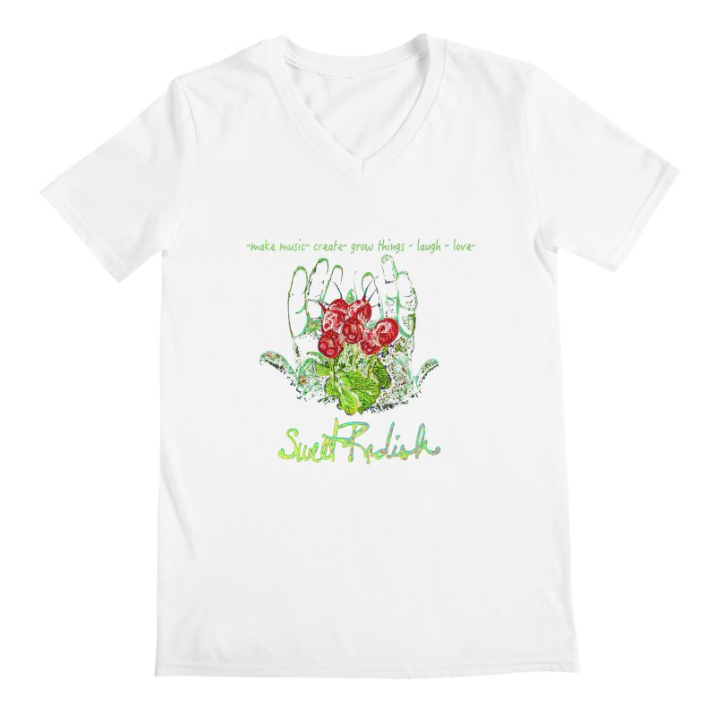 Sweet Radish Motto Men's V-Neck by jackrabbithollow's Artist Shop