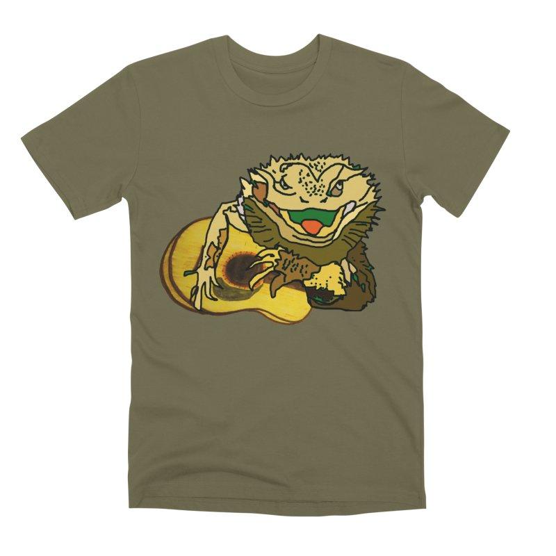 A Lizard in the Spring Men's Premium T-Shirt by jackrabbithollow's Artist Shop
