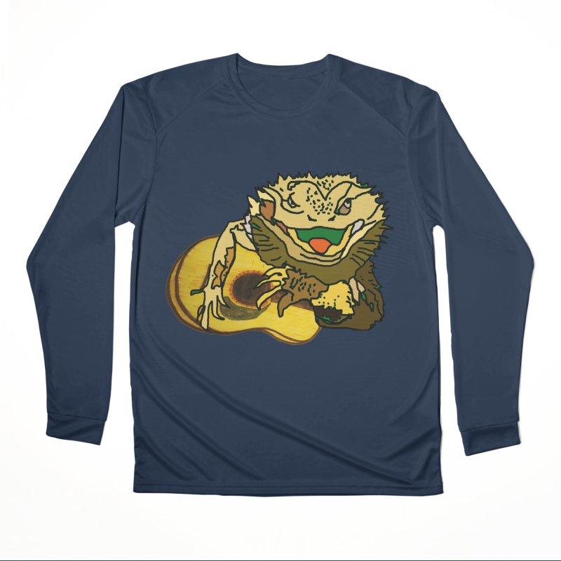 A Lizard in the Spring Women's Performance Unisex Longsleeve T-Shirt by jackrabbithollow's Artist Shop