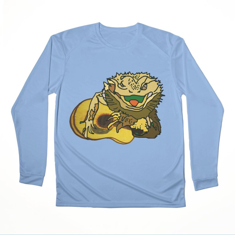 A Lizard in the Spring Women's Performance Unisex Longsleeve T-Shirt by jackrabbithollow's Artist Shop