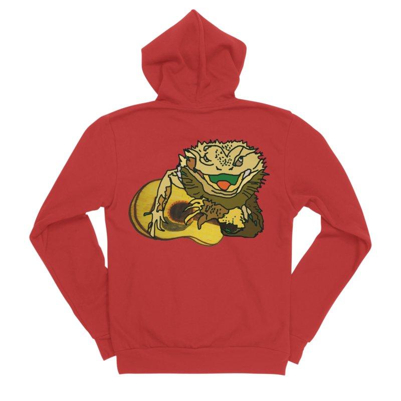A Lizard in the Spring Women's Sponge Fleece Zip-Up Hoody by jackrabbithollow's Artist Shop