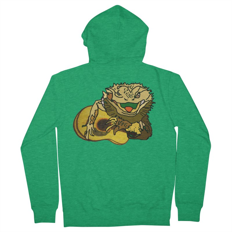 A Lizard in the Spring Women's French Terry Zip-Up Hoody by jackrabbithollow's Artist Shop