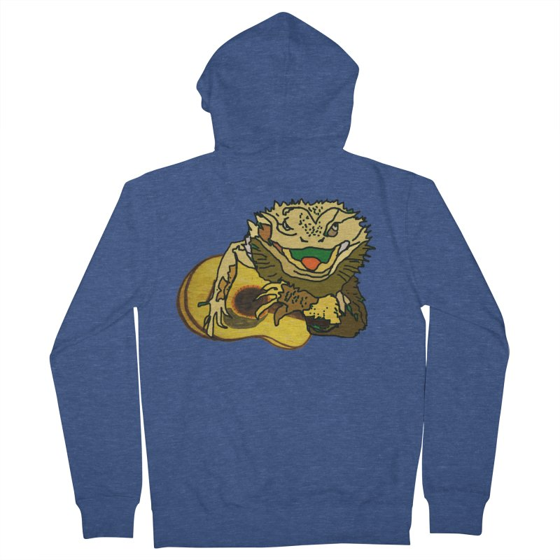 A Lizard in the Spring Men's French Terry Zip-Up Hoody by jackrabbithollow's Artist Shop
