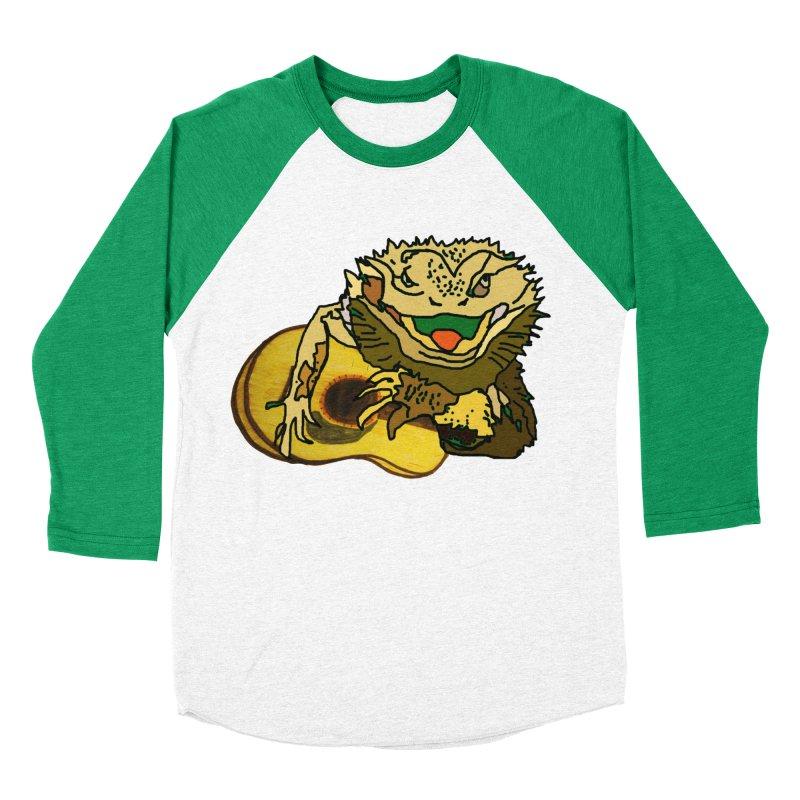 A Lizard in the Spring Women's Baseball Triblend Longsleeve T-Shirt by jackrabbithollow's Artist Shop