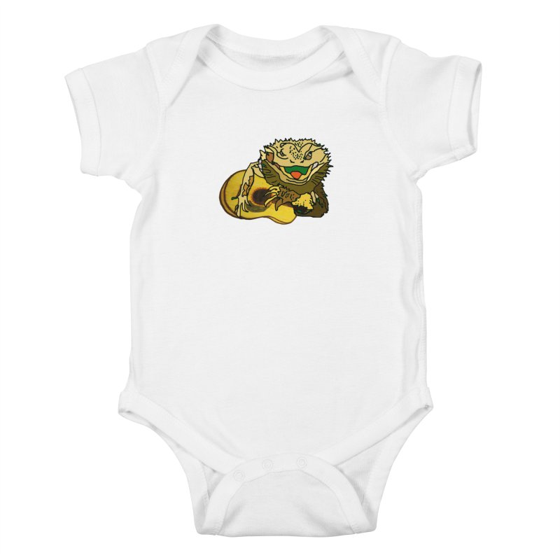 A Lizard in the Spring Kids Baby Bodysuit by jackrabbithollow's Artist Shop