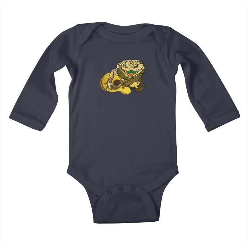 A Lizard in the Spring Kids Baby Longsleeve Bodysuit by jackrabbithollow's Artist Shop