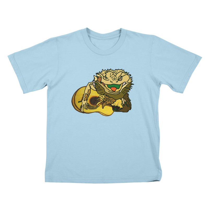 A Lizard in the Spring Kids T-Shirt by jackrabbithollow's Artist Shop