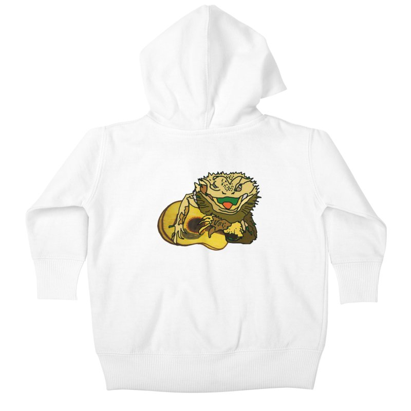 A Lizard in the Spring Kids Baby Zip-Up Hoody by jackrabbithollow's Artist Shop