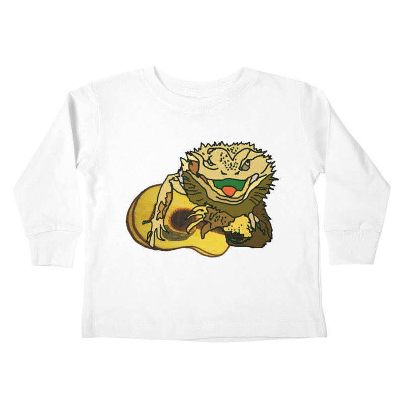 A Lizard in the Spring Kids Toddler Longsleeve T-Shirt by jackrabbithollow's Artist Shop