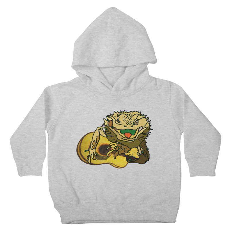 A Lizard in the Spring Kids Toddler Pullover Hoody by jackrabbithollow's Artist Shop