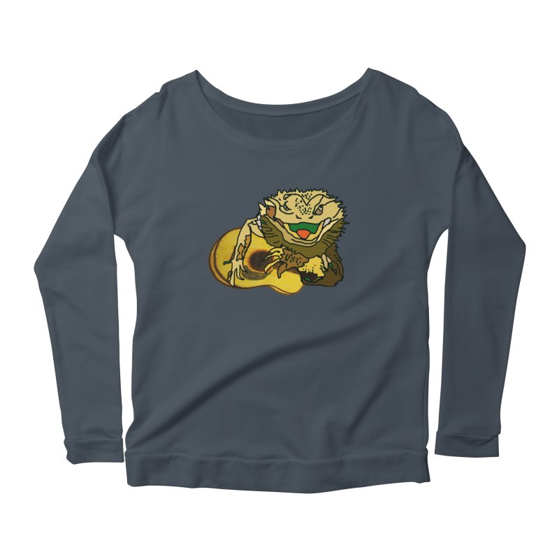 A Lizard in the Spring Women's Scoop Neck Longsleeve T-Shirt by jackrabbithollow's Artist Shop