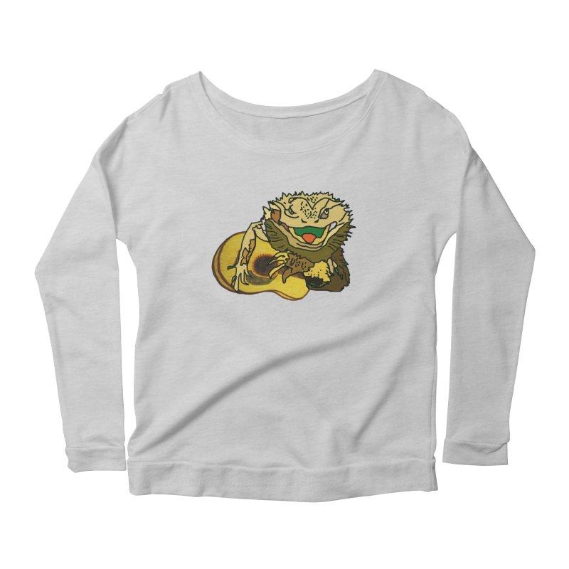 A Lizard in the Spring Women's Scoop Neck Longsleeve T-Shirt by jackrabbithollow's Artist Shop