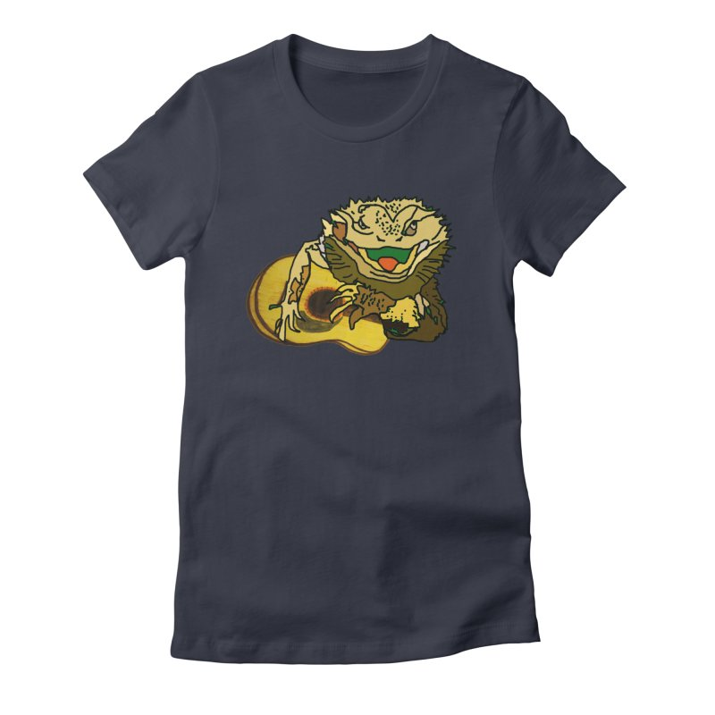 A Lizard in the Spring Women's Fitted T-Shirt by jackrabbithollow's Artist Shop