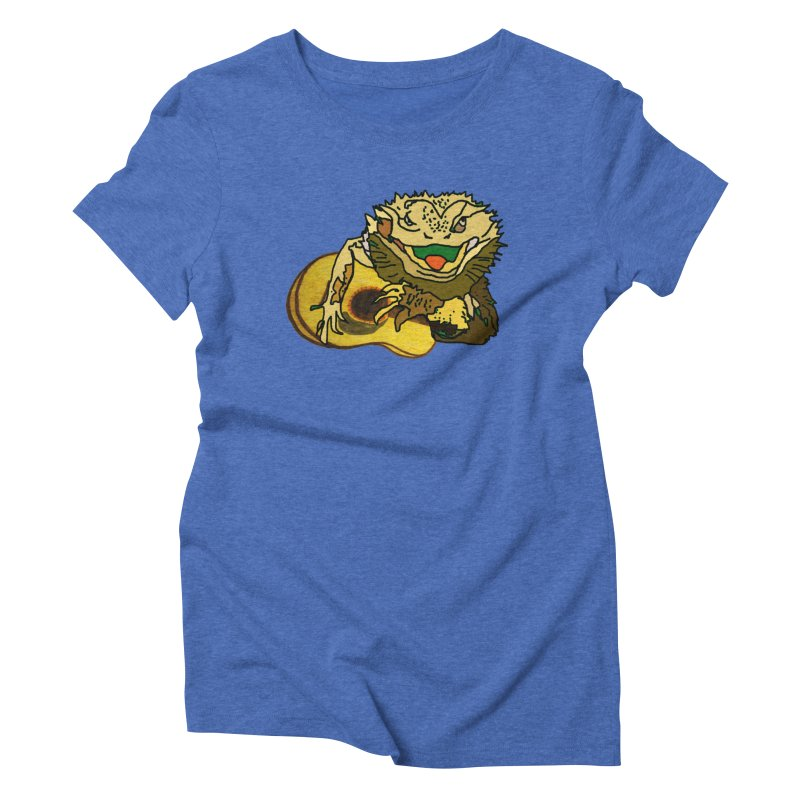 A Lizard in the Spring Women's Triblend T-Shirt by jackrabbithollow's Artist Shop