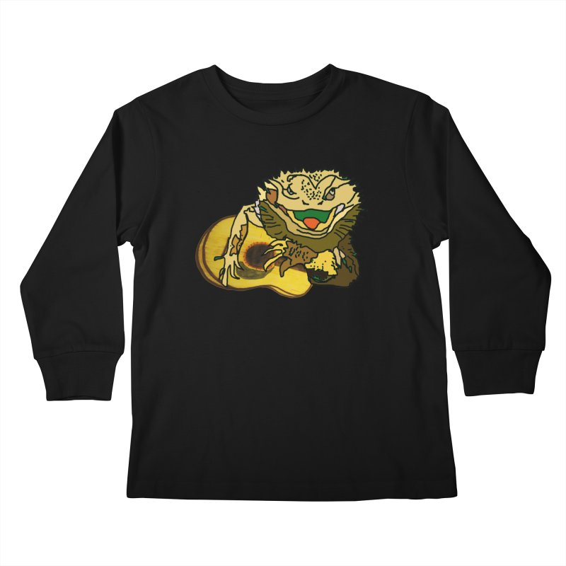 A Lizard in the Spring Kids Longsleeve T-Shirt by jackrabbithollow's Artist Shop