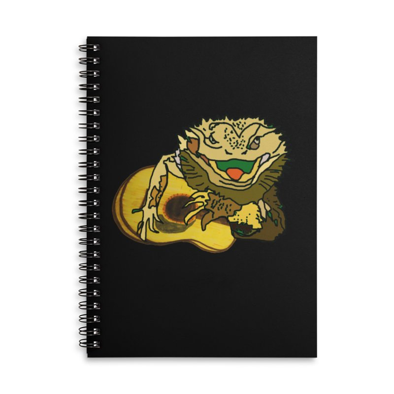A Lizard in the Spring Accessories Lined Spiral Notebook by jackrabbithollow's Artist Shop