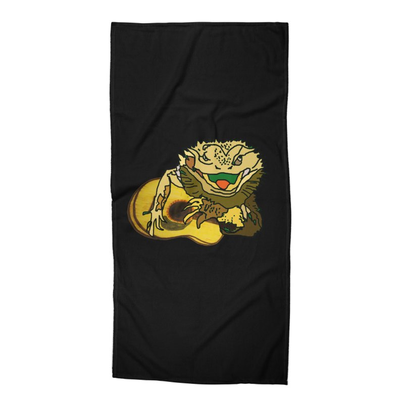 A Lizard in the Spring Accessories Beach Towel by jackrabbithollow's Artist Shop