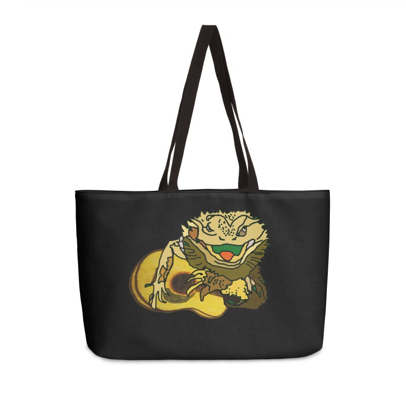 A Lizard in the Spring Accessories Weekender Bag Bag by jackrabbithollow's Artist Shop
