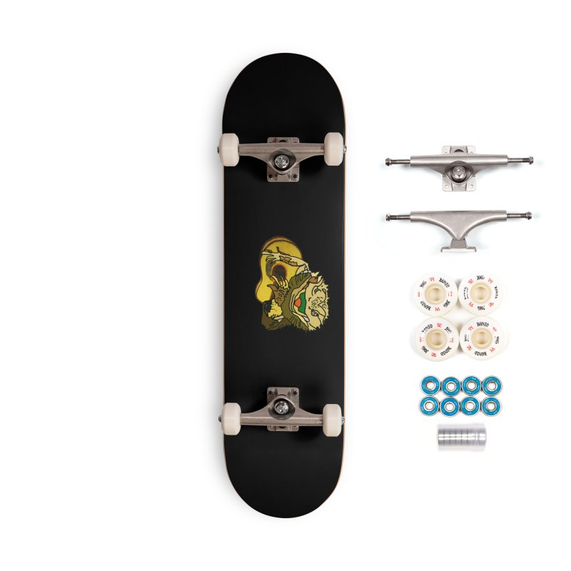 A Lizard in the Spring Accessories Complete - Premium Skateboard by jackrabbithollow's Artist Shop