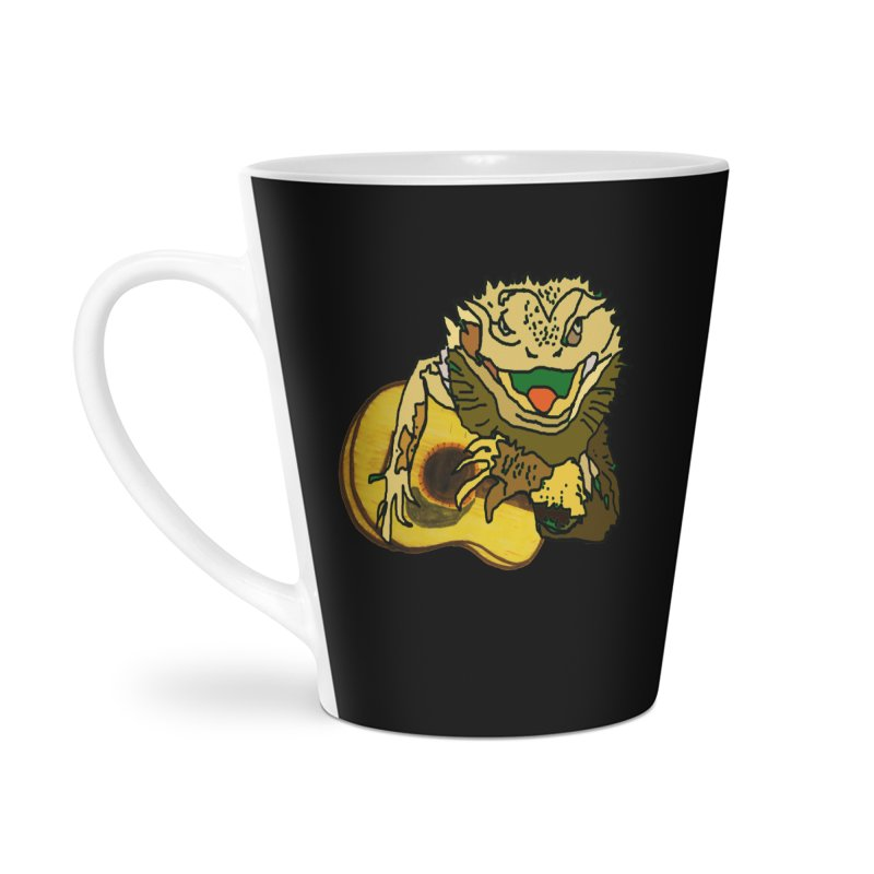 A Lizard in the Spring Accessories Latte Mug by jackrabbithollow's Artist Shop