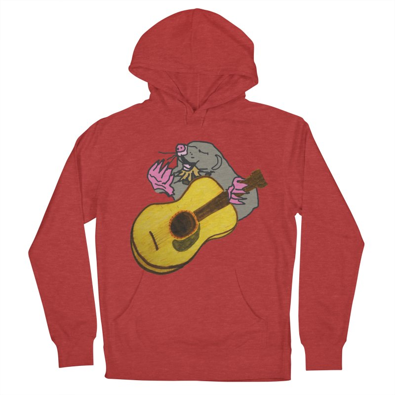 Mole in the Ground Women's French Terry Pullover Hoody by jackrabbithollow's Artist Shop