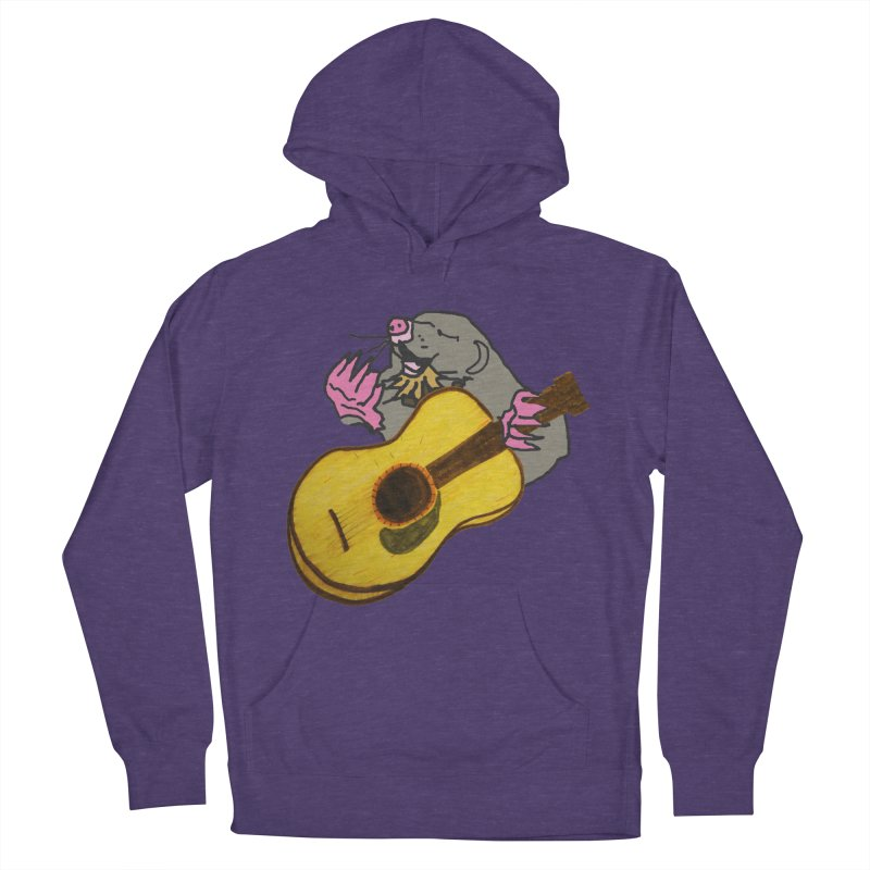 Mole in the Ground Men's French Terry Pullover Hoody by jackrabbithollow's Artist Shop
