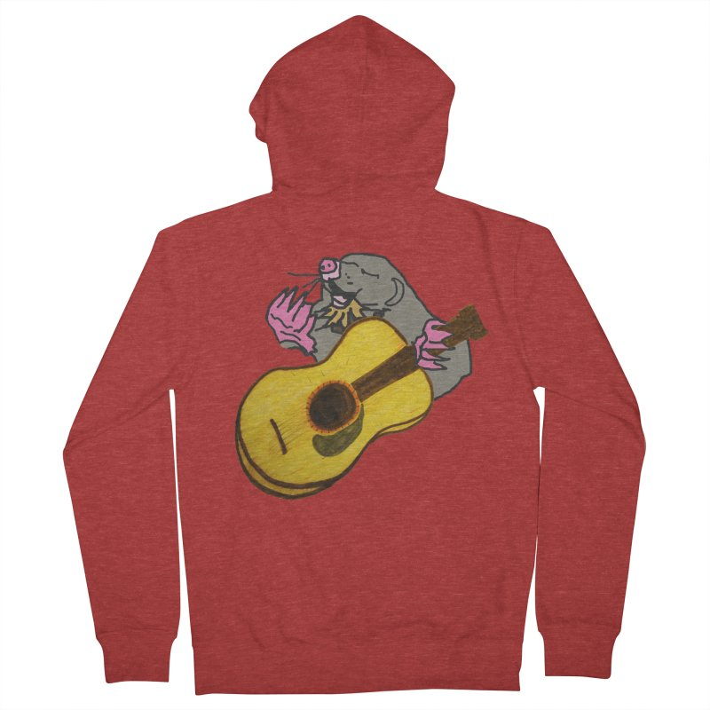Mole in the Ground Women's French Terry Zip-Up Hoody by jackrabbithollow's Artist Shop