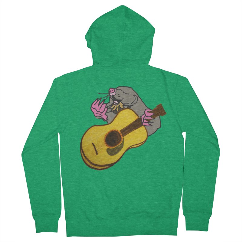 Mole in the Ground Men's French Terry Zip-Up Hoody by jackrabbithollow's Artist Shop