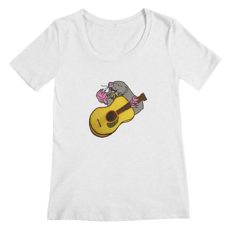 Mole in the Ground Women's Scoop Neck by jackrabbithollow's Artist Shop