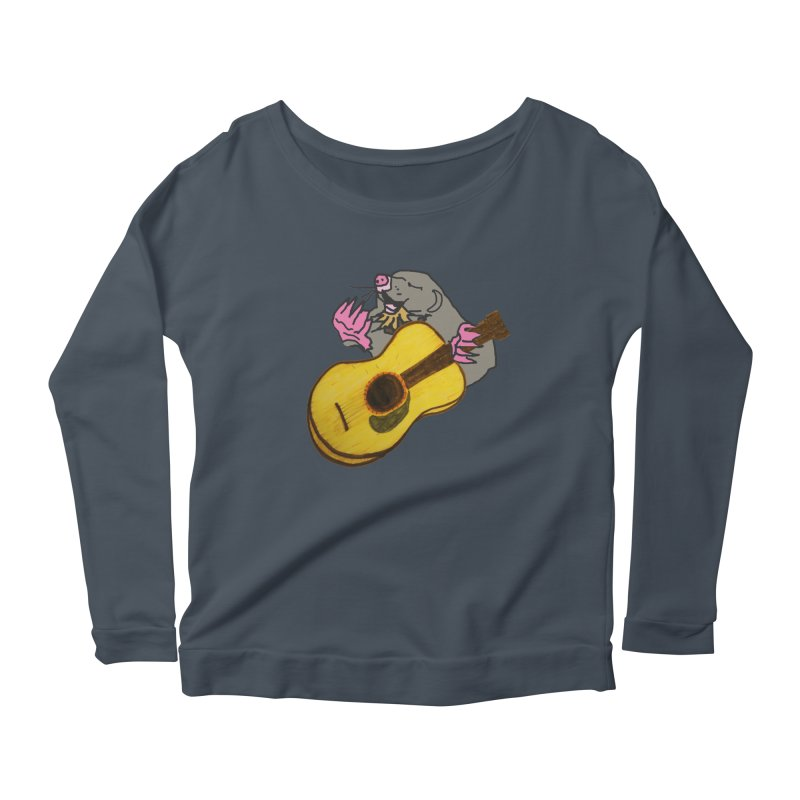Mole in the Ground Women's Scoop Neck Longsleeve T-Shirt by jackrabbithollow's Artist Shop