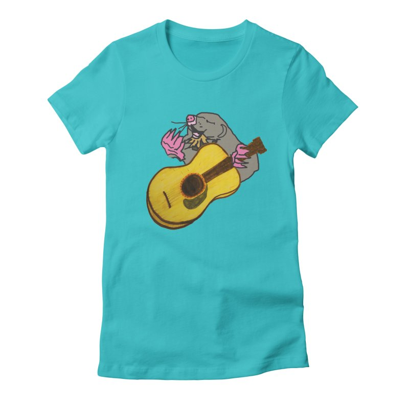 Mole in the Ground Women's Fitted T-Shirt by jackrabbithollow's Artist Shop