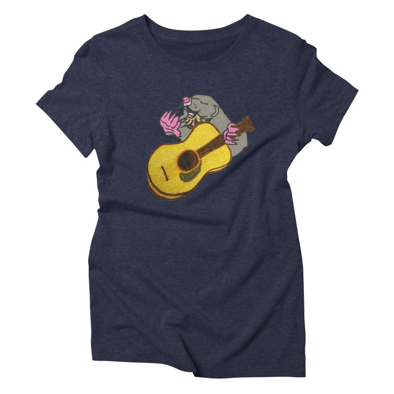 Mole in the Ground Women's Triblend T-Shirt by jackrabbithollow's Artist Shop