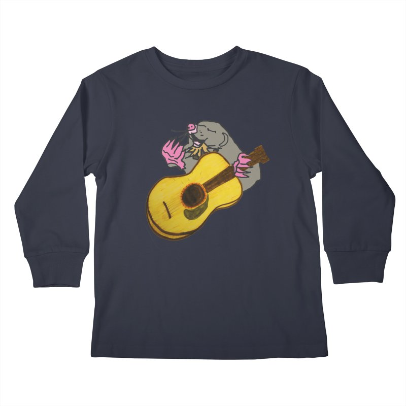 Mole in the Ground Kids Longsleeve T-Shirt by jackrabbithollow's Artist Shop