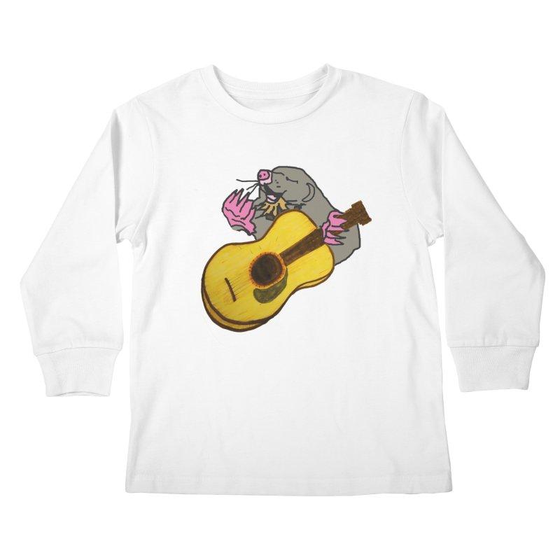 Mole in the Ground Kids Longsleeve T-Shirt by jackrabbithollow's Artist Shop