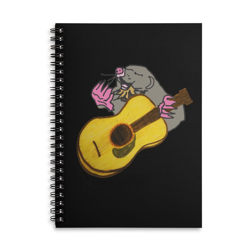 Mole in the Ground Accessories Lined Spiral Notebook by jackrabbithollow's Artist Shop