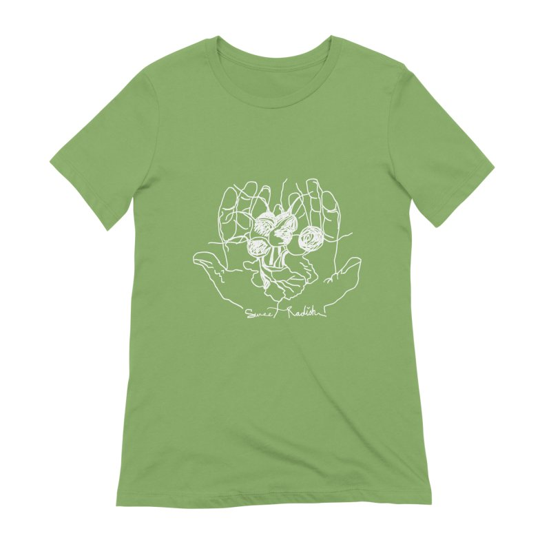 RADISH HANDS Women's Extra Soft T-Shirt by jackrabbithollow's Artist Shop
