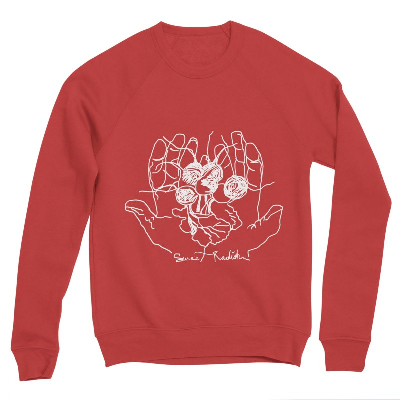 RADISH HANDS Men's Sponge Fleece Sweatshirt by jackrabbithollow's Artist Shop