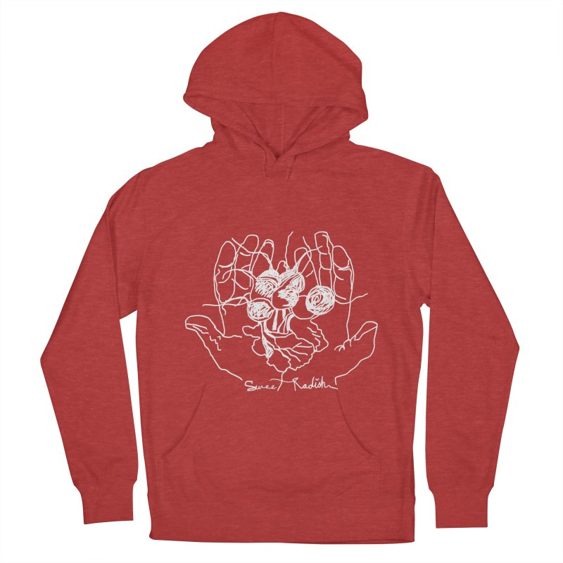 RADISH HANDS Men's French Terry Pullover Hoody by jackrabbithollow's Artist Shop
