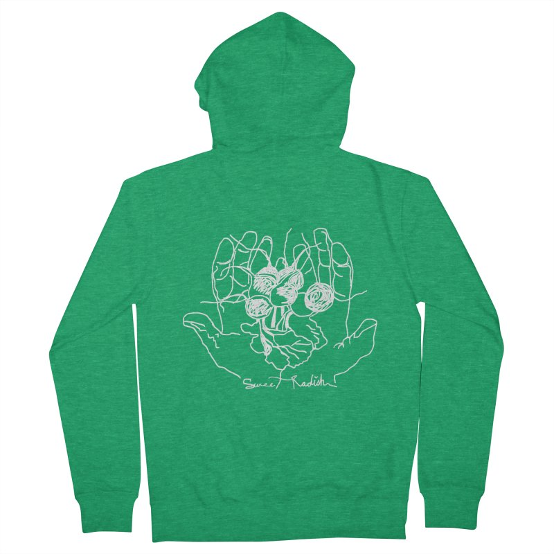 RADISH HANDS Women's Zip-Up Hoody by jackrabbithollow's Artist Shop