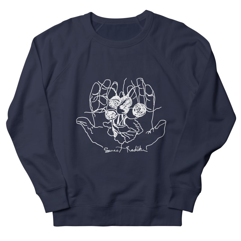 RADISH HANDS Women's French Terry Sweatshirt by jackrabbithollow's Artist Shop