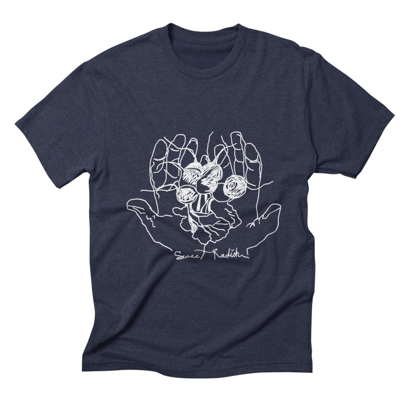 RADISH HANDS Men's Triblend T-Shirt by jackrabbithollow's Artist Shop
