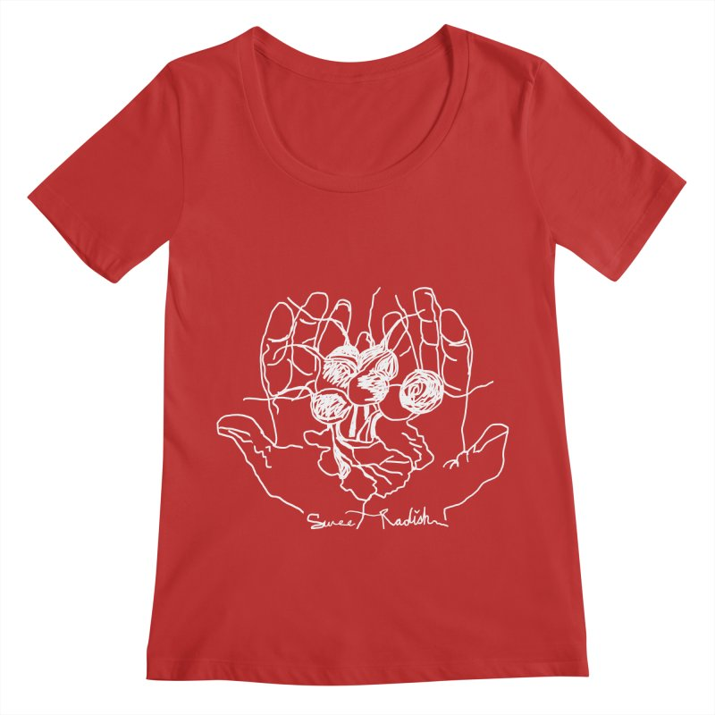 RADISH HANDS Women's Regular Scoop Neck by jackrabbithollow's Artist Shop