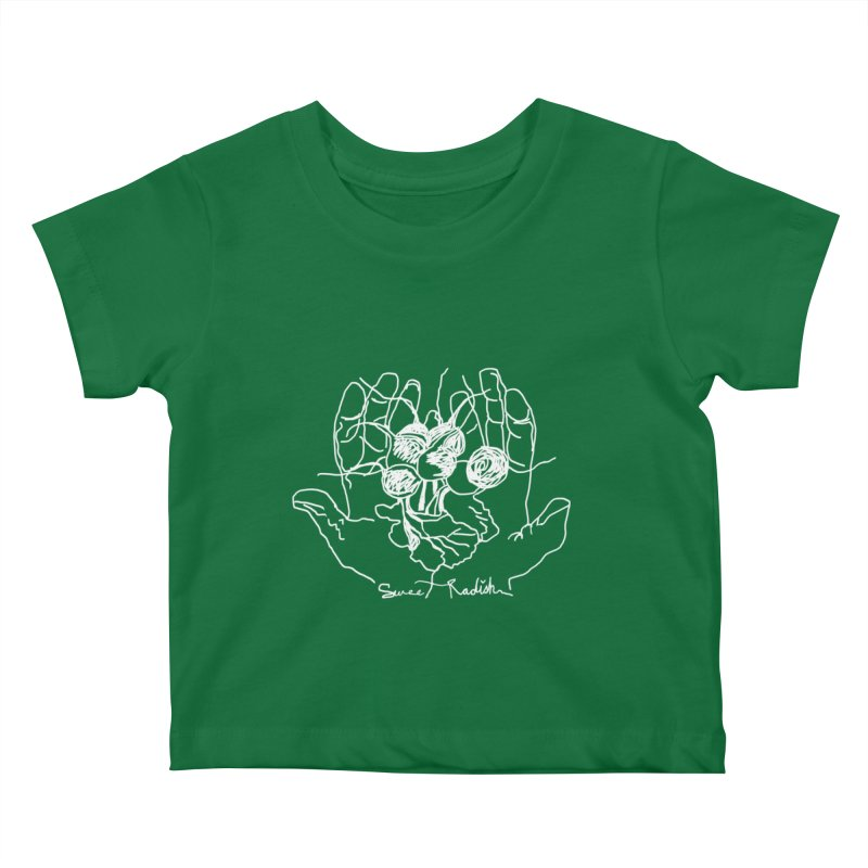 RADISH HANDS Kids Baby T-Shirt by jackrabbithollow's Artist Shop