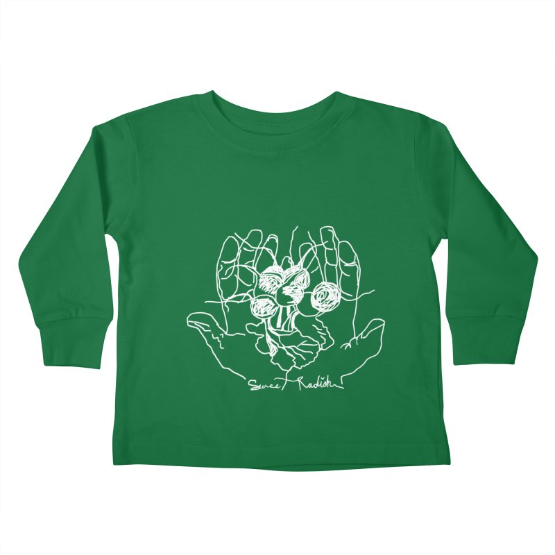 RADISH HANDS Kids Toddler Longsleeve T-Shirt by jackrabbithollow's Artist Shop