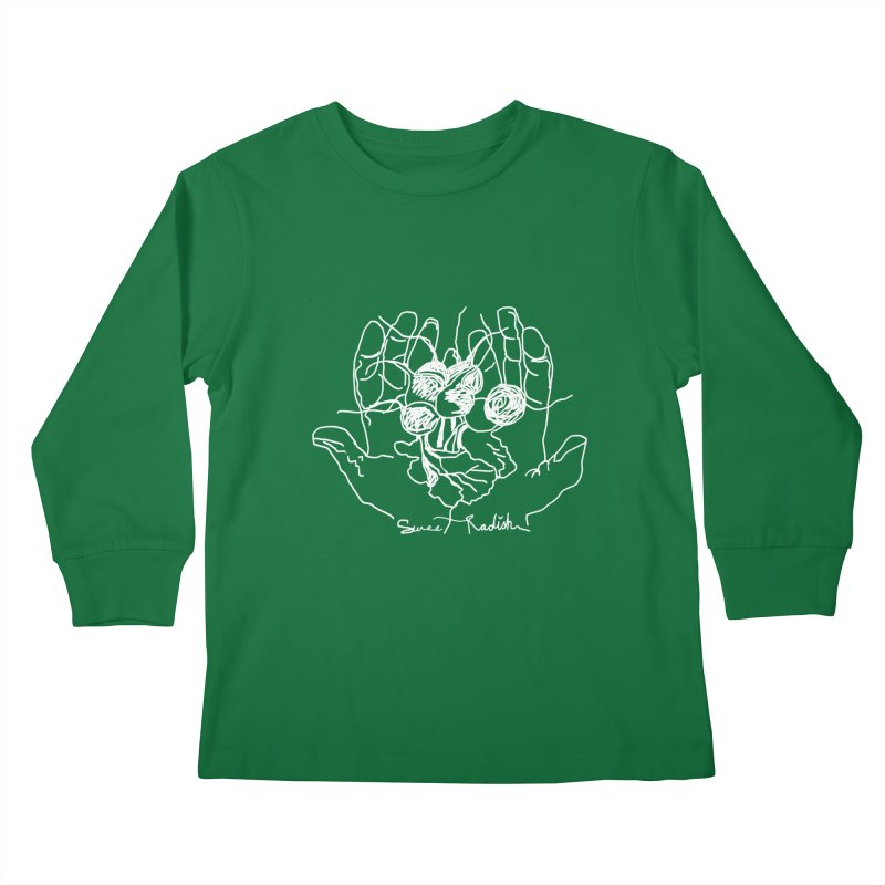 RADISH HANDS Kids Longsleeve T-Shirt by jackrabbithollow's Artist Shop