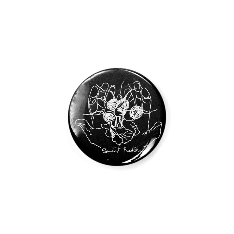 RADISH HANDS Accessories Button by jackrabbithollow's Artist Shop