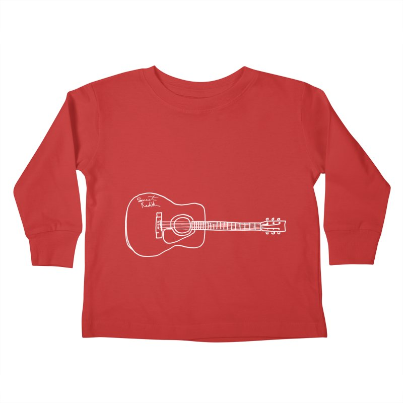 ABE'S GUITAR Kids Toddler Longsleeve T-Shirt by jackrabbithollow's Artist Shop